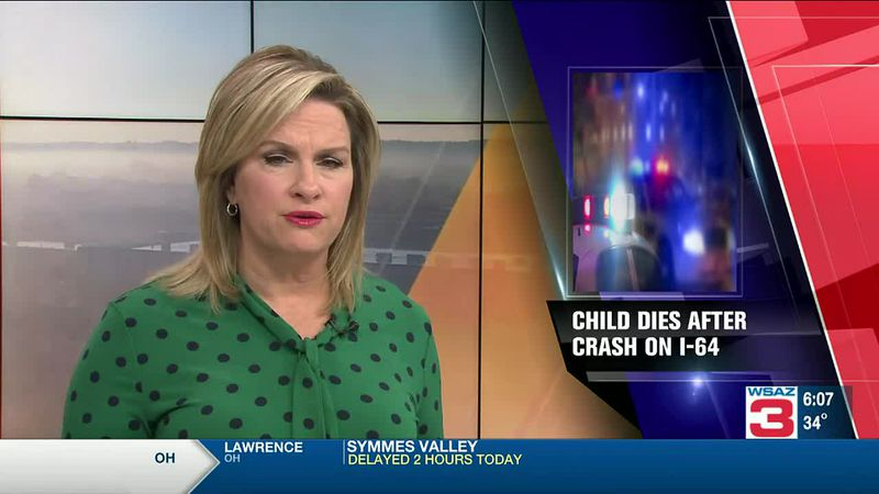 Child dies in I-64 crash