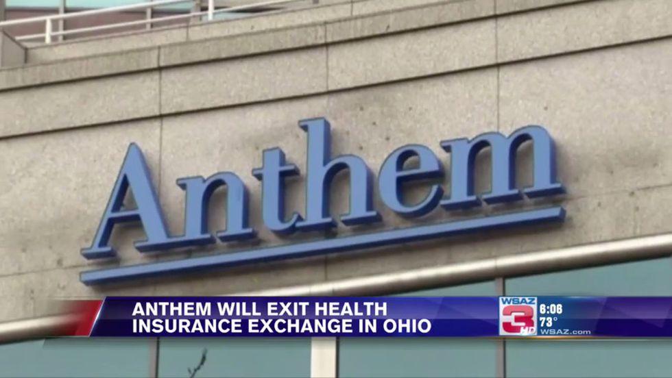 Anthem will exit health insurance exchange in Ohio
