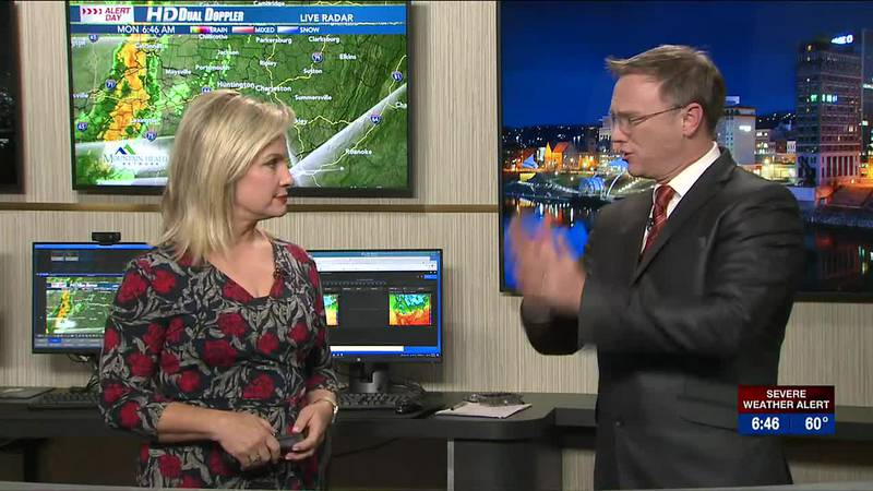 Brandon Butcher Delivers the First Warning Forecast for Monday, October 25th, 2021.