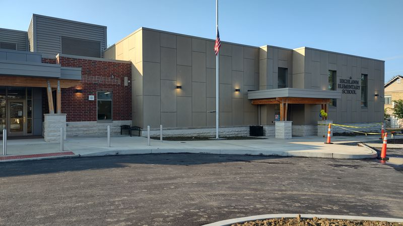 The new Highlawn Elementary School is open