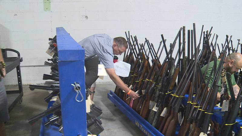 Only per-registered federal firearm dealers were allowed to attend the auction.