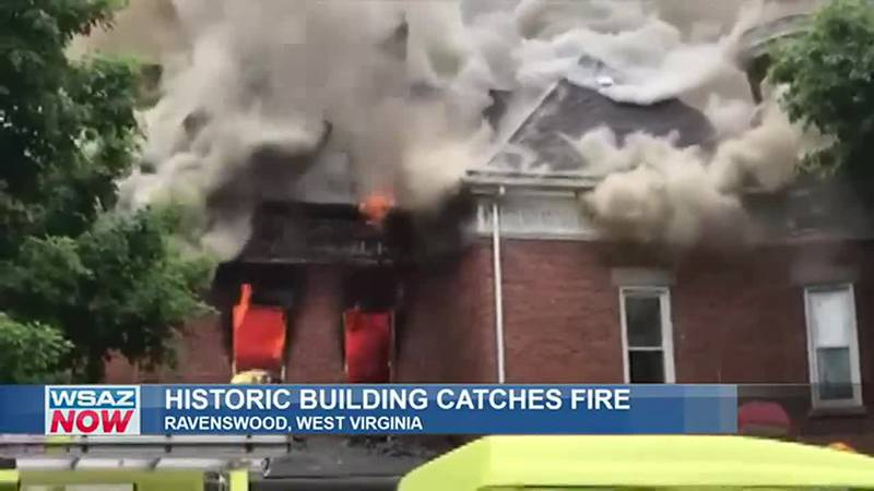 The McIntosh House, a community center in Ravenswood, West Virginia, burned Thursday.
