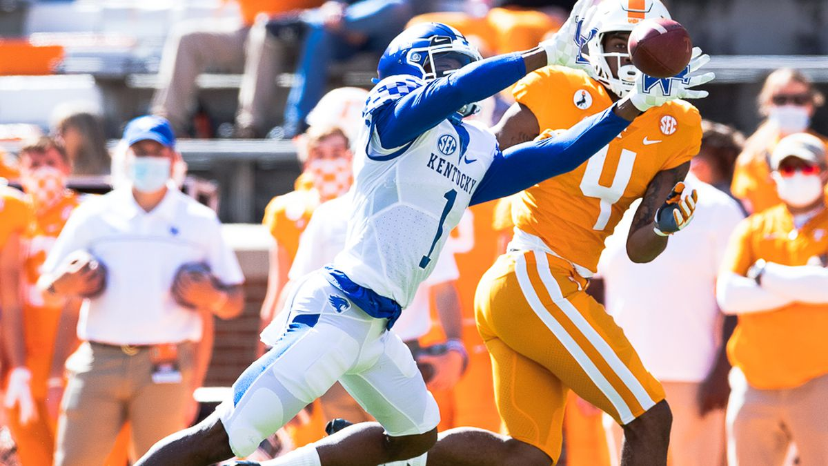 Kentucky hammered No. 18 Tennessee 34-7 on Saturday afternoon for its first win in Knoxville since 1984. The Wildcats had lost 17 consecutive games in Neyland Stadium.