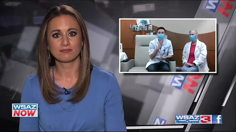 Dr. Wes Lafferty speaks with Taylor Eaton at the WSAZ Now Desk after receiving the COVID-19...