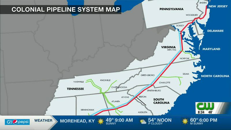 Experts stress West Virginia not included in Colonial Pipeline, shouldn't be affected