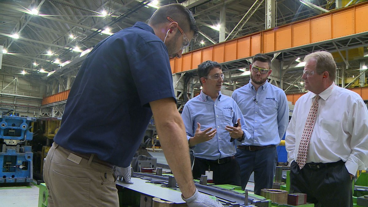 South Charleston Mayor Frank Mullens tours the Gestamp Plant.