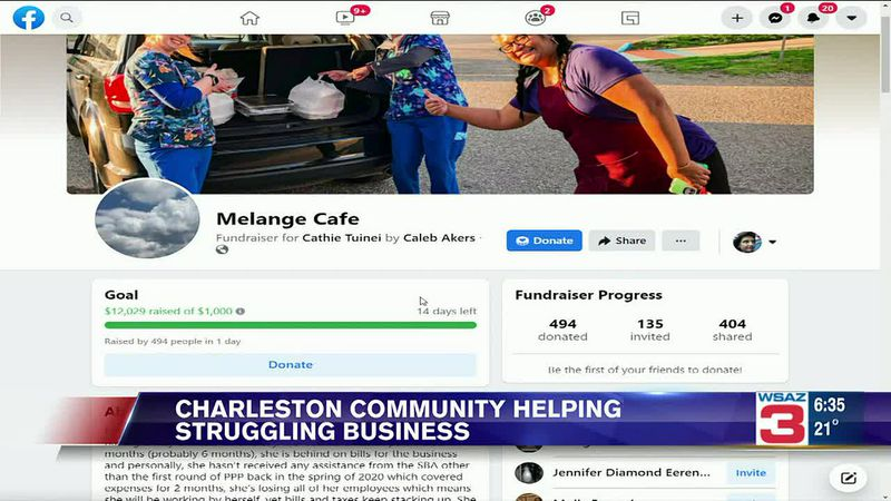 The Charleston Community is coming together to support a café struggling to stay afloat during...