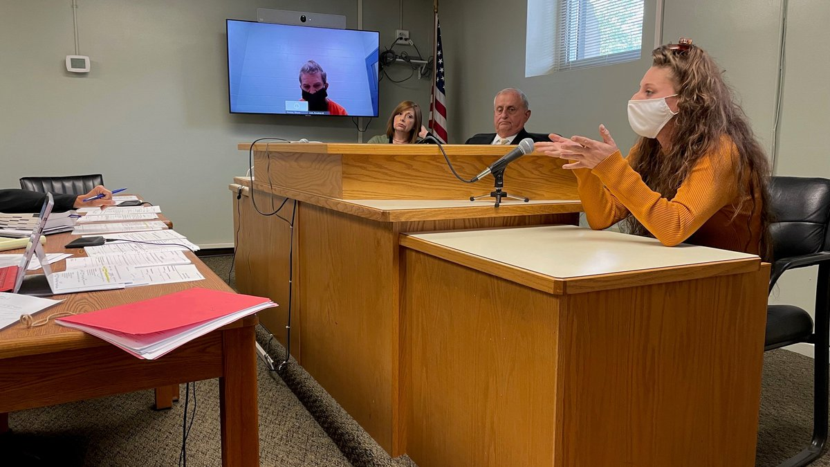 A witness testifies in a double murder case in Huntington, West Virginia, involving suspect...