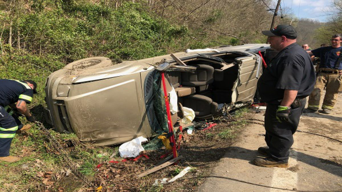 Kanawha County responders say that a distracted driver led to a crash in Mink Shoals. (Chaelesse Delpleche/WSAZ)