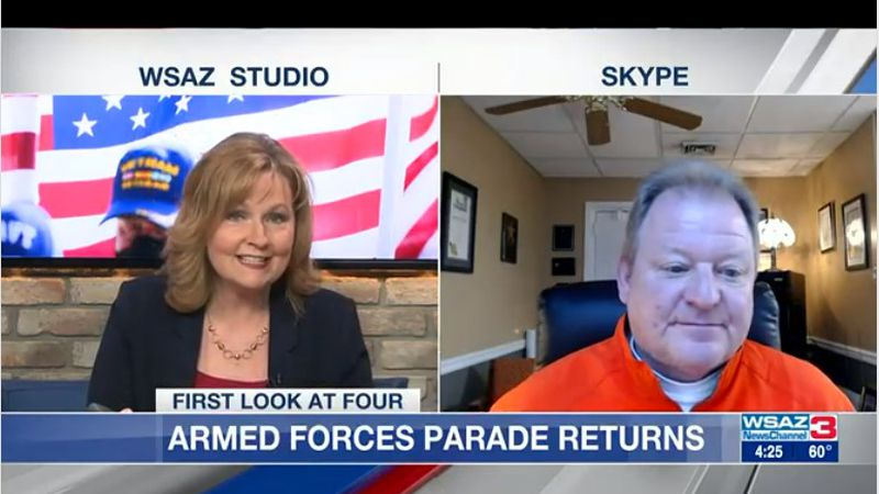 MAYOR FRANK MULLENS OF SOUTH CHARLESTON JOINS US TODAY WITH EXCITING NEWS….THE ARMED FORCES DAY...