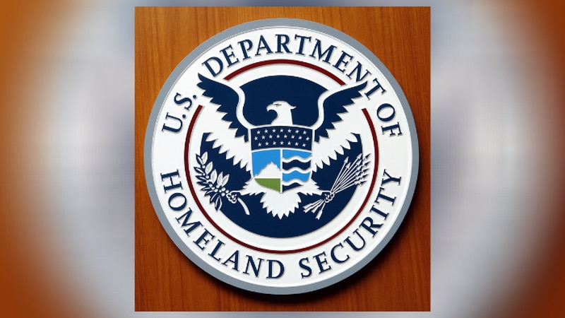 Logo of the Department of Homeland Security of the United States of America pictured at the...