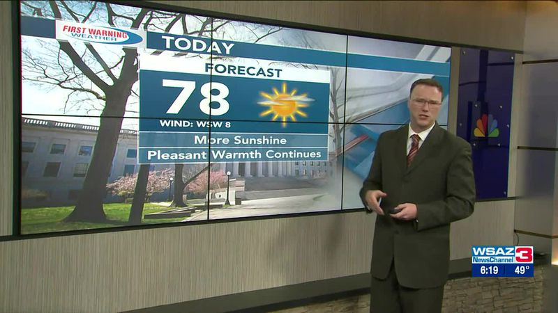 Brandon Butcher Delivers the First Warning Forecast for Tuesday, April 6th, 2021.