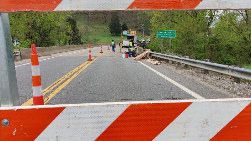 The closure will allow maintenance work to be performed on the bridge.