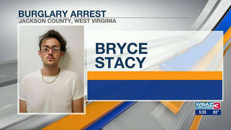 Stacy was arrested for burglary in Jackson County.