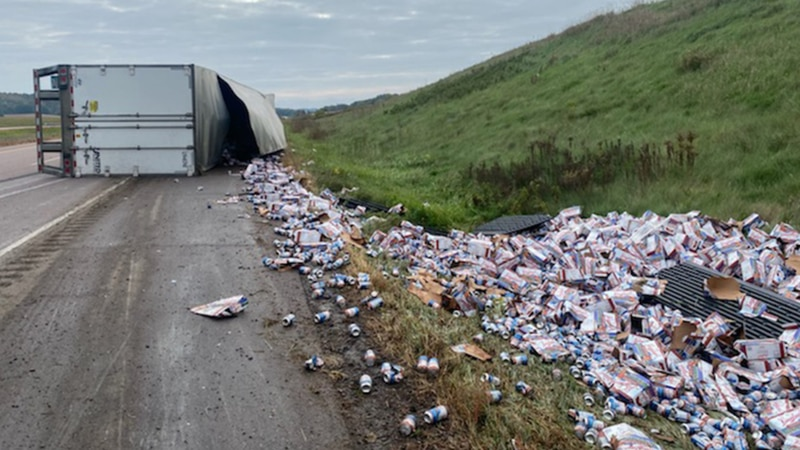 According to the Wisconsin State Patrol, the rollover happened shortly after 9 a.m. CT and took...