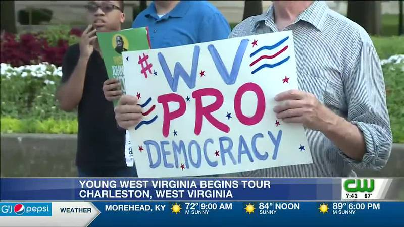 Young WV's tour begins in Charleston