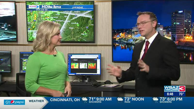 Brandon Butcher Delivers the First Warning Forecast for Monday, September 20th, 2021.