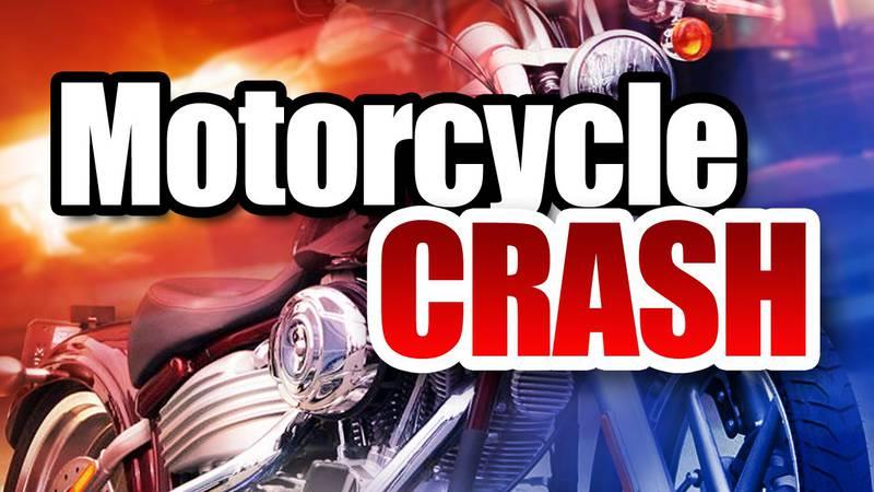 A motorcycle crash has shut down the slow lane of I77 near the Leon Sullivan Way exit.