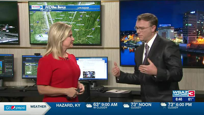 Brandon Butcher Delivers the First Warning Forecast for Tuesday, October 5th, 2021.