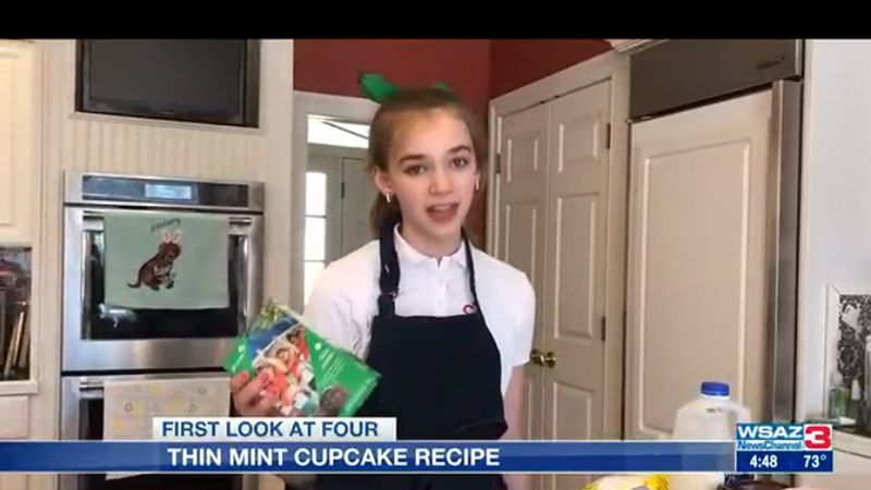 Audrey Allred, a girl scout Cadette from troop 1839, shows us how to turn thin mints into...