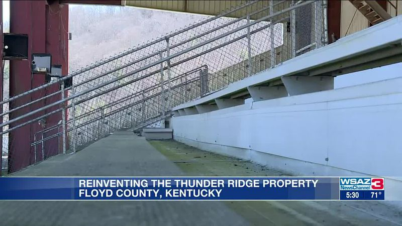 Floyd County officials plan to purchase the former Thunder Ridge Racetrack's property to build...
