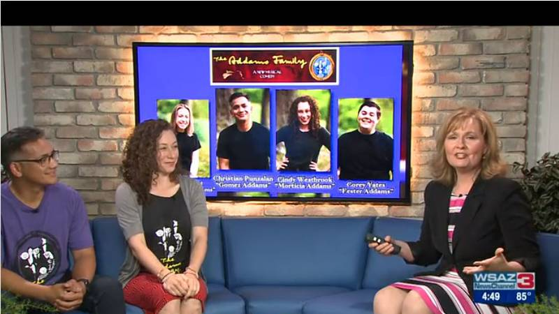 Cast members from the Addams Family, Cindy Westbrook and Christian Punzalan talk about opening...