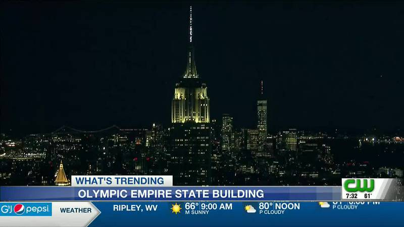 EMPIRE STATE BUILDING TO BE LIT IN FLAGS' COLORS TO SUPPORT OLYMPIANS