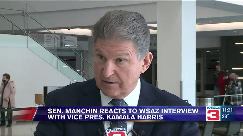Sen. Joe Manchin reacts to WSAZ interview with Vice President Kamala Harris