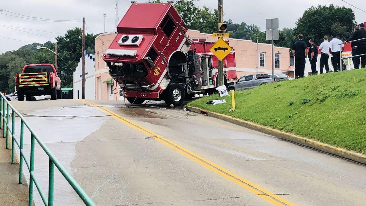 Charleston fire truck accident