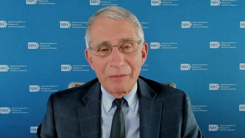 "Dr. Anthony Fauci calls the notion of 200,000 deaths ""sobering."""