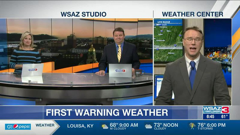 Brandon Butcher Delivers the First Warning Forecast for Tuesday, May 4th, 2021.