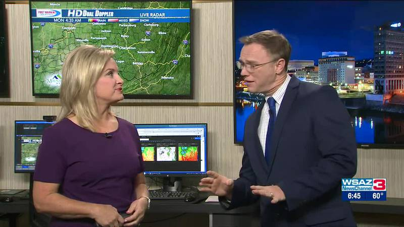 Brandon Butcher Delivers the First Warning Forecast for Monday, October 11th, 2021.
