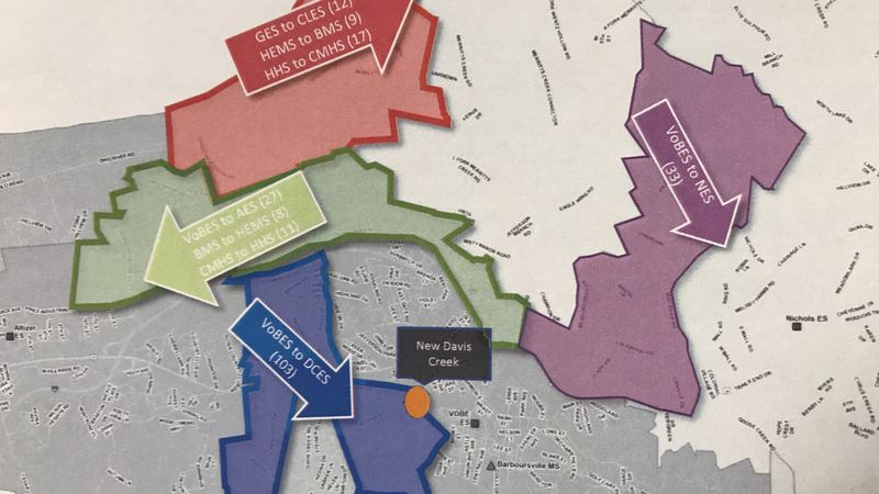 The Cabell County school board got an update Tuesday night on their redistricting project.