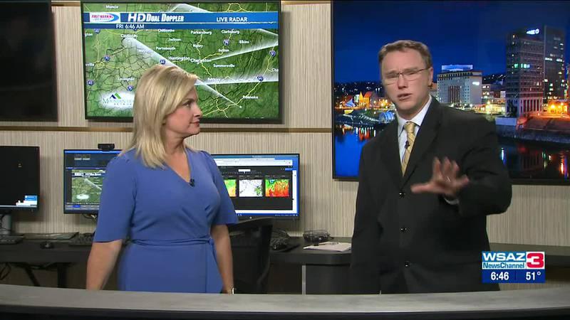 Brandon Butcher Delivers the First Warning Forecast for Friday, October 1st, 2021.