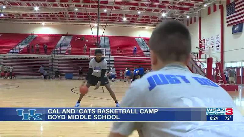 The UK Wildcats hoops team had one of their satellite camps in our region.