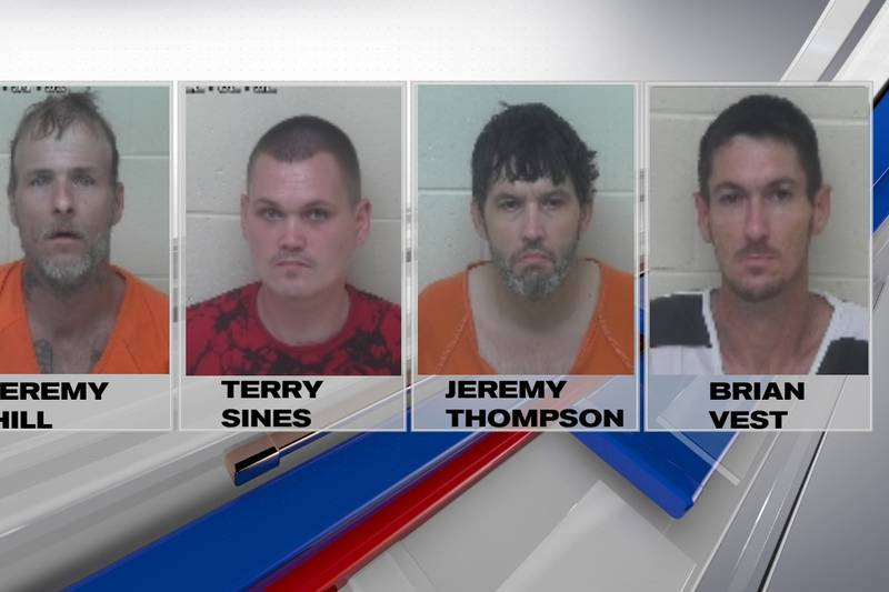 Four men from Pike County, Ohio, were arrested in connection with several thefts in the...