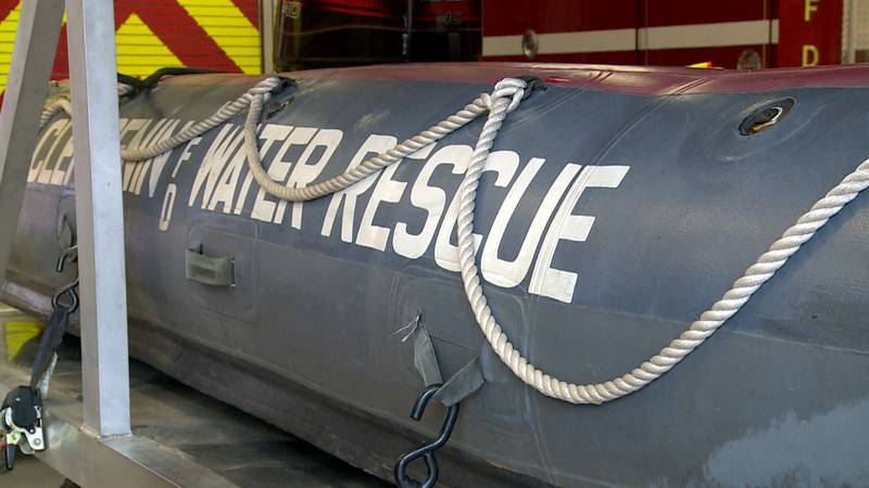Clendenin Volunteer Fire Department has it's rescue boats ready to go as flood water could...