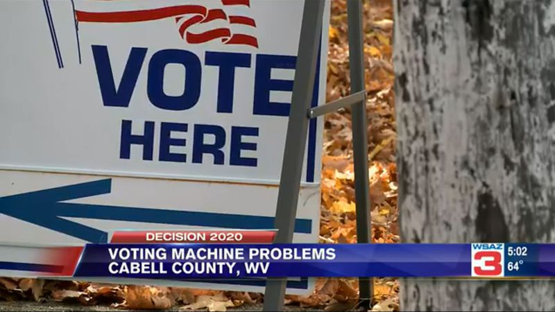 Voting machine problems reported in Cabell County days before election