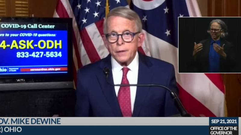 Ohio Gov. Mike DeWine gives an update on COVID-19 and the state's response.