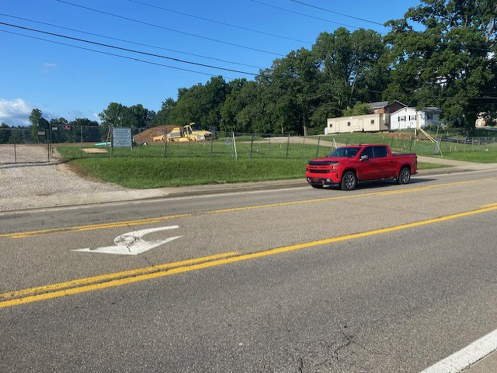 Putnam County officials say this construction site across along Teays Valley Road will be...
