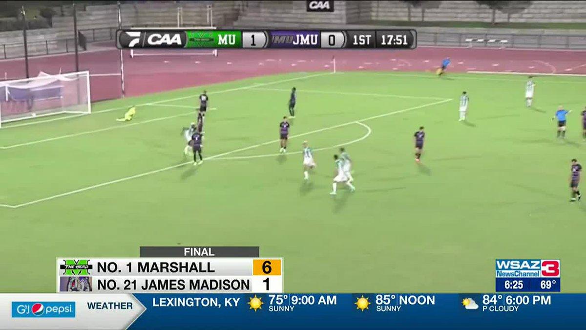 No. 1 Marshall men's soccer routs No. 21 JMU