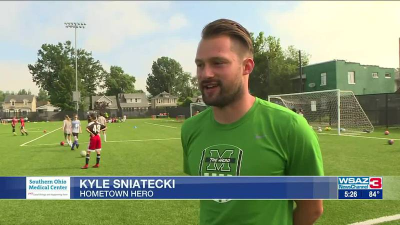 Kyle Sniatecki, a volunteer assistant for Marshall University's soccer program, is this week's...