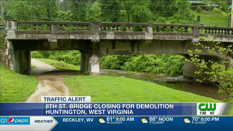 Eighth Street Bridge in Huntington closes for bridge demolition, replacement