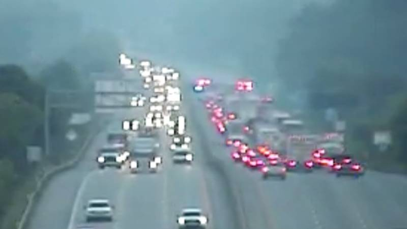Two separate crashes are affecting traffic on I-64 west in Kanawha County.