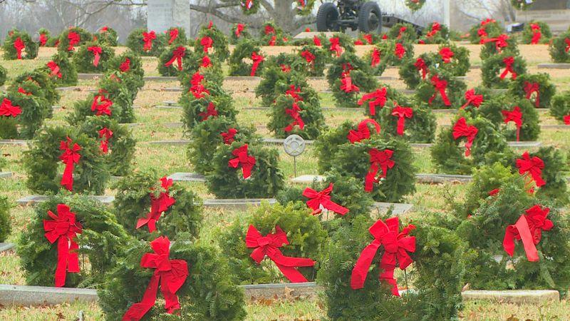 Wreaths Across America placed over 1000 wreaths.