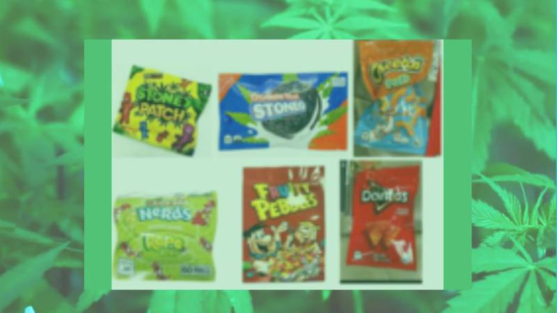 Some of the copycat bags pictured contain 600-1,000 mg of THC. If a child were to eat an entire...