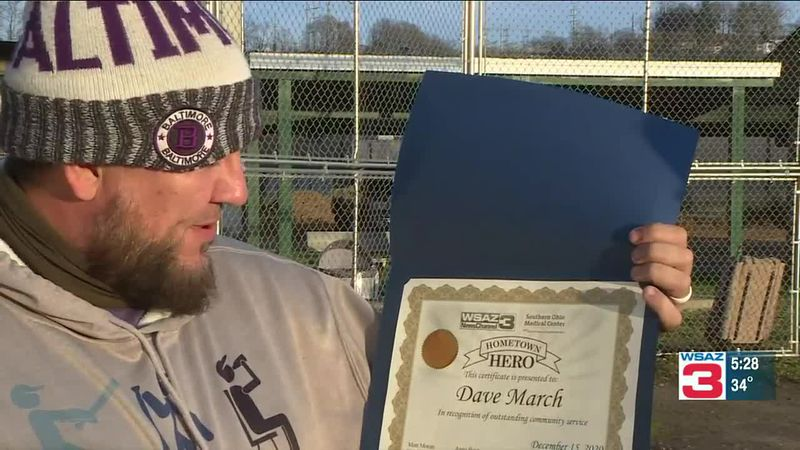Dave March, our latest Hometown Hero, put his love of softball to good use this holiday season...
