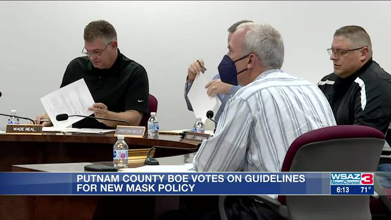Putnam County BOE votes on new mask policy guidance