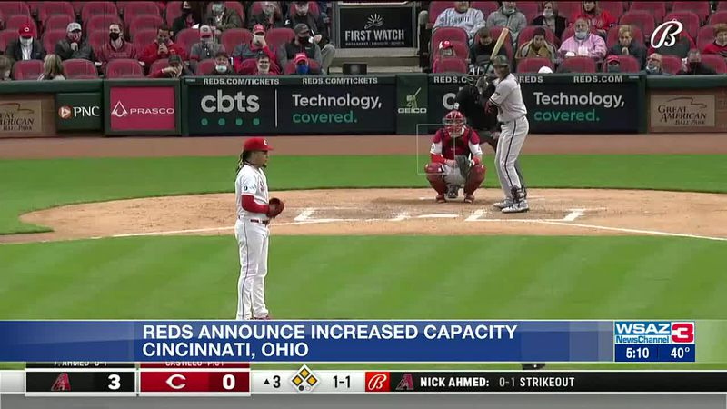 Cincinnati Reds announce capacity increase