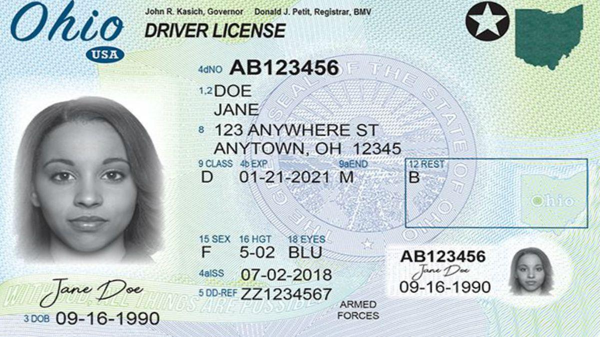 Photo: Ohio Bureau of Motor Vehicles